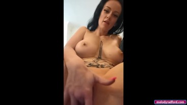 BIG TIT Teen Onlyfans Video Vibrator Sex Toy Play With My Sticky Cum On My Fingers - Melody Radford