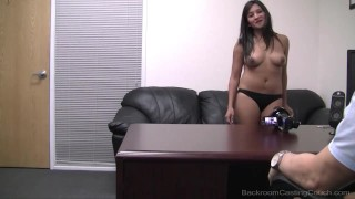 22yo film student Lena debuts on Backroom This is her 1st time on camera & her 1st casting for the