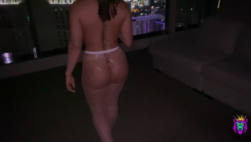 She came to my room just to show me her butt plug and I fucked her ass a minute later