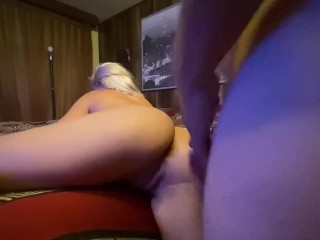 Hard anal pounding. Destroyed her asshole & cream pied her asshole