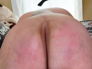 Daddy spanking  the brat out of his bbw Babygirl
