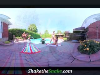 Shake The Snake – Poolside Orgy w/ Swinging Couples