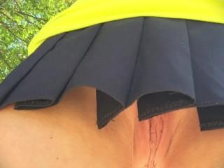 Outdoor/a park in skirt skirt