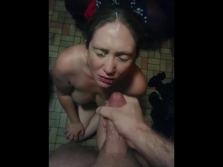 She's PISSED that I got cum in her hair.