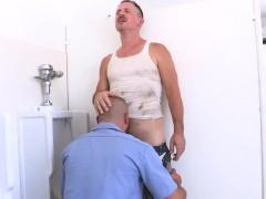 Trashy Men Sucking Dick At A Urinal