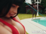 MARISKAX Valentina Ricci ass fucked by the pool guy adivasi sex