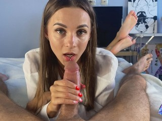 Gentle blowjob from a sexy brunette – DIANA HURACAN