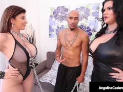 Big Breasted Latina Angelina Castro & Hard Man-meat Fuck Sara Jay!