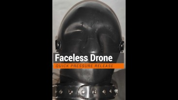 faceless rubber drone shooting his load