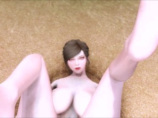 White Freckled Girl Sonora Gets Fucked By The Beach 3D Hentai
