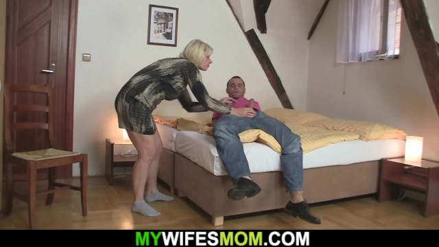 His mother - in-law peeing Gf finding her old mother riding his cheating dick