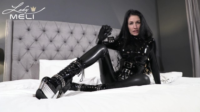 The latex allergy Latex dominatrix gives you a brain fuck