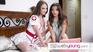 WebYoung Hot Babes Decide To Skip The Halloween Party To Fuck While Watching Horror Movies