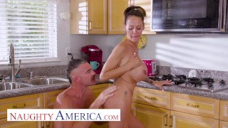 Naughty America - McKenzie Lee gets fucked with her big tits