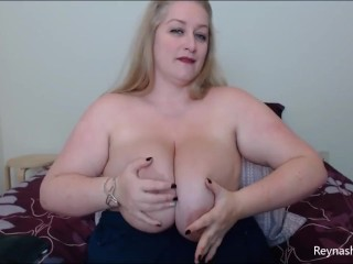Hard For My Huge Tits – Reyna Mae – BBW POV Big Tits Bouncing MILF Blonde Topless JOI Big Nipples