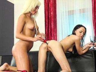 Hot Lesbians Love Anal Piss Play