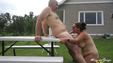 Blowing My Load In Missy's Mouth After Risky Outdoor Blowjob