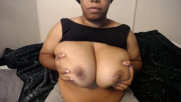 BBW lotion up my tits
