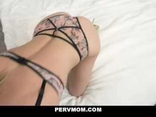Hot Stepmom Blows Her Sneaky Stepson