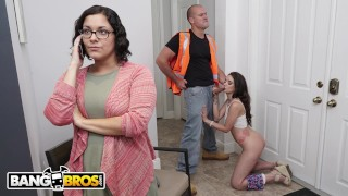 BANGBROS – Teen Gia Paige Gets Hammered By The Roofer, Sean Lawless