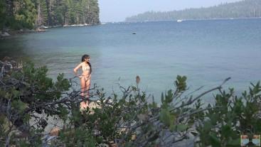 Candid Beach Voyeur (Clear Water Bikini Babe)