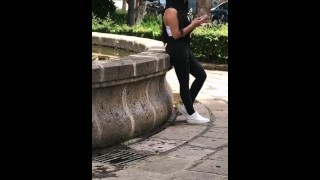 MONEY for SEX,Mexican Teen on the Streets is Waiting for Her Boyfriend and I Pay Her! ASS IN PUBLIC