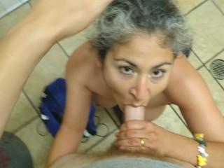 She Wanted My Cock In Women's Bathroom! POV
