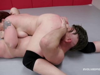 Mistress Kara Mixed Wrestling Sex Fight Vs Jack Friday Sucking And Being Fucked – Evolved Fights