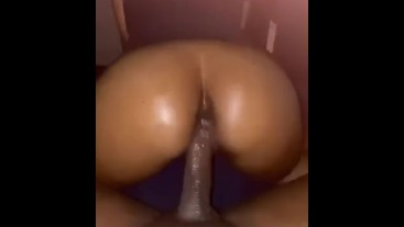 Lightskin Ebony Teen Bouncing on BBC