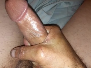 JERKING OFF 8 INCH COCK READY TO GO WHO WANTS TO FINISH ME OFF AND MAKE ME CUM