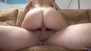 Teen Cowgirl My Dick - Hard Fucking and Cumshot