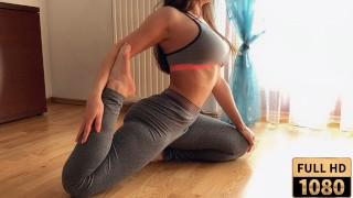 Sporty milf with big booty in yoga pants fucked after workout. Mature pov. MyShinyGirl