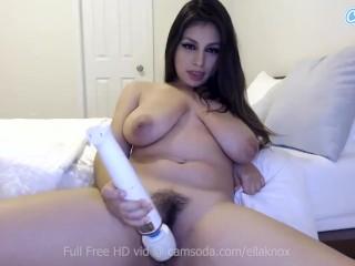 Camsoda – Ella Knox sucks on her dildo before masturbating