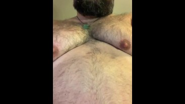 FloridaBear rubs his cock on his desk until he shoots his load...then eats it.