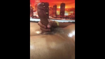 Dirty Talk. That's my Pussy! Oil Up. Solo BBC. doing Laundry and got Bored and Horny. BIG NUT Part 2