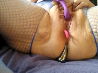Watch me cum – pulsating contractions @5:13. Ass penetration with toy. Moaning. Multiple orgasms.