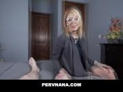 PERVNANA- HORNY COUGAR MILF SUCKS YOUNG COCK