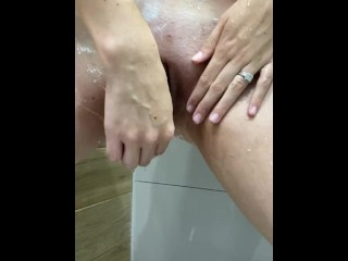Shaving My Wet Tight Hairy Pussy In The Shower! Close Up!