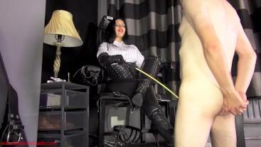 My slave's last boot worship