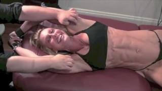 Mature Bodybuilder Bound And Tickled