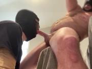Straight alpha fucking his faggot's throat like a whore's pussy