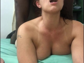 white girl having her way with black cock