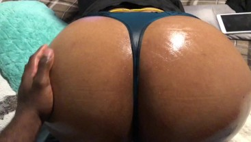 Massage oil, Netflix and Big Ebony Booty