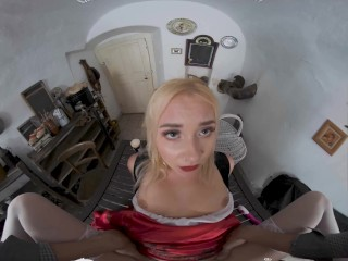 VR BANGERS Blonde Little Red Riding Hood Has Secret In Her Basket VR Porn