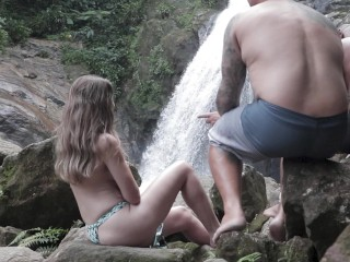 Mike and his friend fucking a naughty skinny girl in the woods! Flavia's debut! Trailer