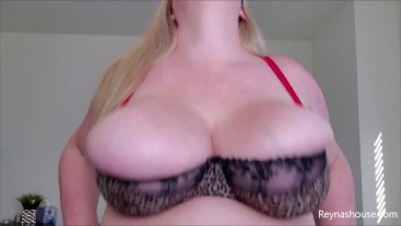 Bra Bouncing - Reyna Mae - BBW Blonde MILF Big Tits Bra Fetish Bouncing Boobs Fat Breasts Tease JOI