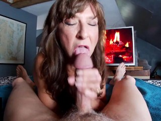 Sexy Granny Shows Cum And Swallows Perfect Blowjob