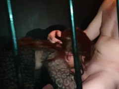 Mike fucking TGirl Gigi and April in the cage at SheWorld