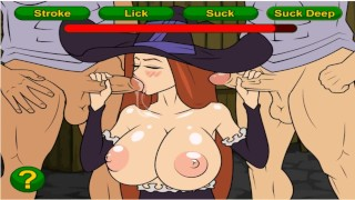 Trouble-free and shy witch with huge breasts | cartoon porn games