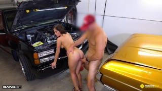 Roadside - Car Guru MILF Fucks Her Car Mechanic